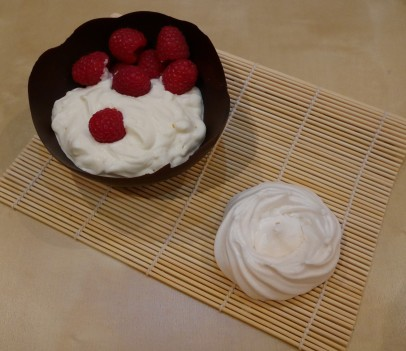 Eton Mess in a Chocolate Cup