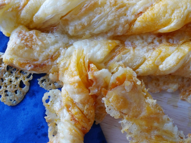 Cheese twists with sobrassada