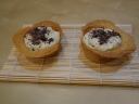 Herrencreme in cookie cups
